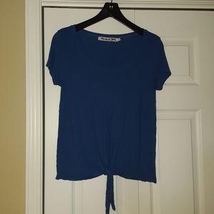 Cobalt blue Michael Stars tie front t-shirt